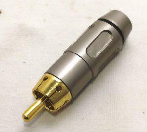 פלג קונקטור הלחמה RCA שחור תוצרת Steelerd