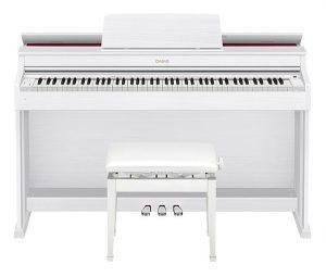 פסנתר חשמלי Casio AP-470 בצבע לבן