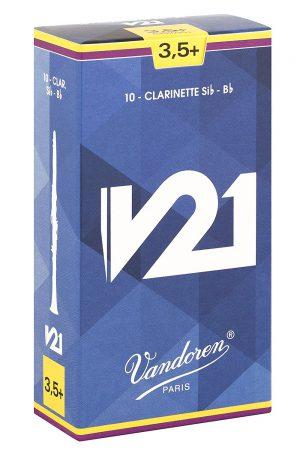 עלים לקלרינט V21 מספר +3.5- 10 בקופסא Vandoren CR8035