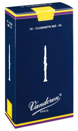 עלים לקלרינט Eb (פיקולו) כחול  מספר 3 –  10 בקופסא Vandoren CR113