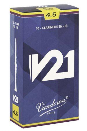 עלים לקלרינט V21 מספר 4.5- 10 בקופסא Vandoren CR8045