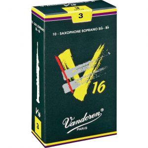 עלים לסקסופון סופרן V16 מספר 3 – 10 בקופסא Vandoren SR713