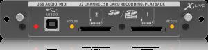 כרטיס הקלטה X-LIVE עבור סדרת מיקסרים X32 Behringer X-LIVE