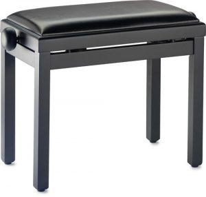 כיסא פסנתר שחור מאט ריפוד דמוי עור Stagg PB39 BKM SBK