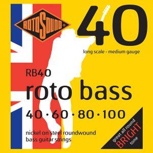מיתרים לגיטרה בס RotoSound RB40 040-100