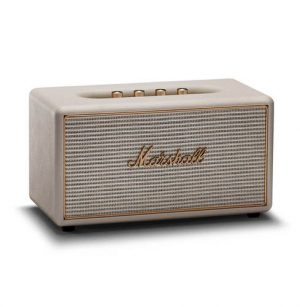 רמקול Bluetooth בצבע לבן עם טכנולוגית multi-room מבית Marshall