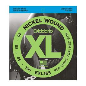 מיתרים לגיטרה בס DAddario EXL165 045-105