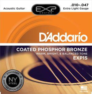 מיתרים לגיטרה אקוסטית DAddario EXP15 010-047