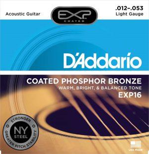 מיתרים לגיטרה אקוסטית DAddario EXP16 012-053