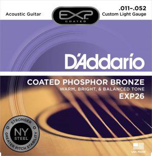 מיתרים לגיטרה אקוסטית DAddario EXP26 011-052