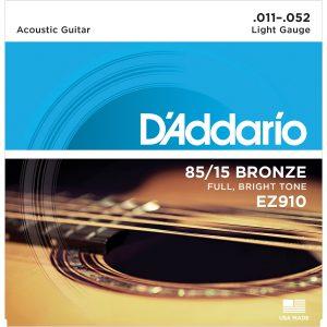 מיתרים לגיטרה אקוסטית DAddario EZ910 011-052