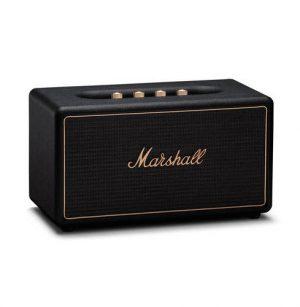 רמקול Bluetooth בצבע שחור עם טכנולוגית multi-room מבית Marshall