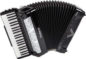 אקורדיון דיגיטלי בצבע שחור Roland FR8X