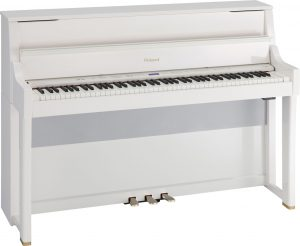 פסנתר חשמלי לבן מבריק Roland LX-15e