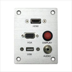 פנל חיבורים PL 3.5, VGA , HDMI ,USB