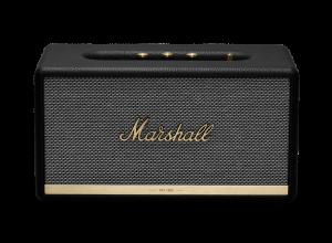 רמקול Bluetooth בצבע שחור עם טכנולוגית זיהוי קול מבית Marshall